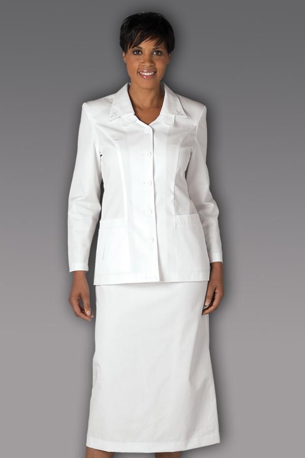 Double Collar Cross Skirt Suit