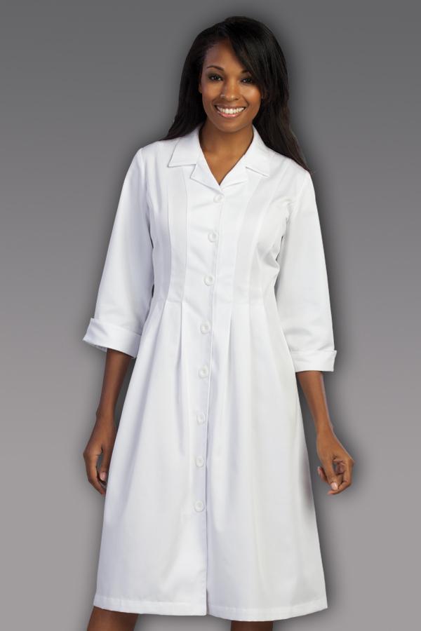 Pleated Dress W/ Collar