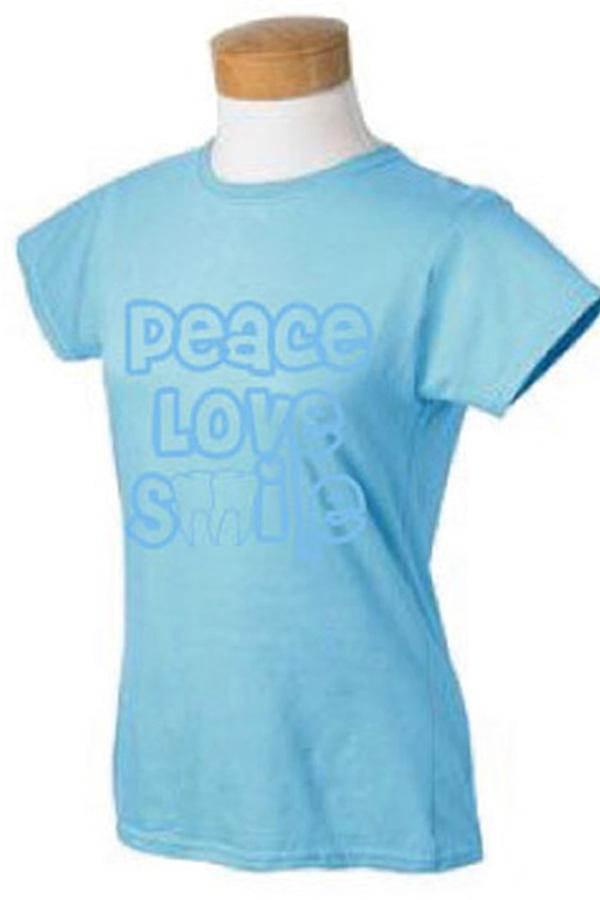 Peace Love Smile T-scrub shirt