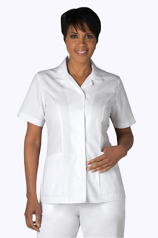Notched Collar scrub top