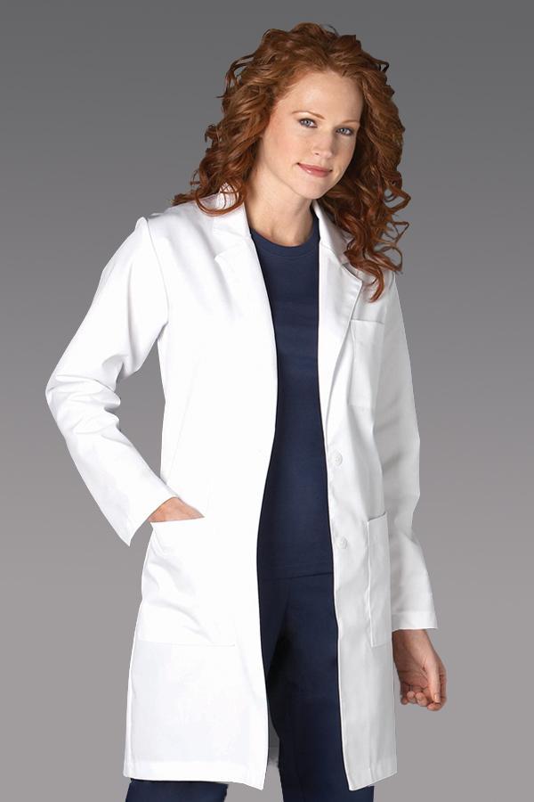 "37"" White Twill Lab Coat"