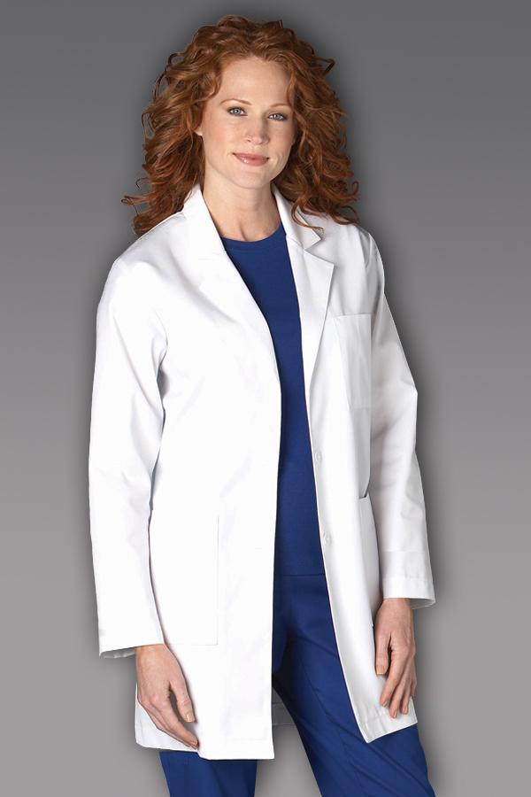 "34"" White Twill  Lab Coat"