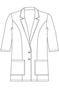 3/4 Sleeve Classic Lab Coat