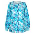 Round Neck Cool Blue Floral warm-up